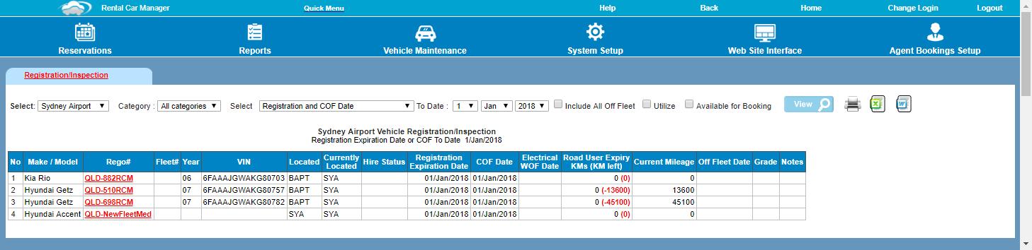 Registration / Inspection   Rental Car Manager Knowledge Base