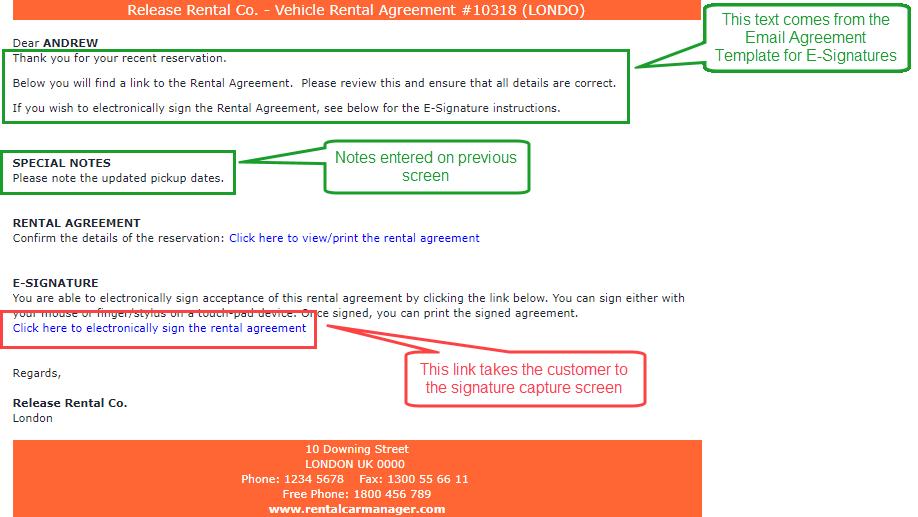 Electronic Signing Of Rental Agreements Online Rental Car