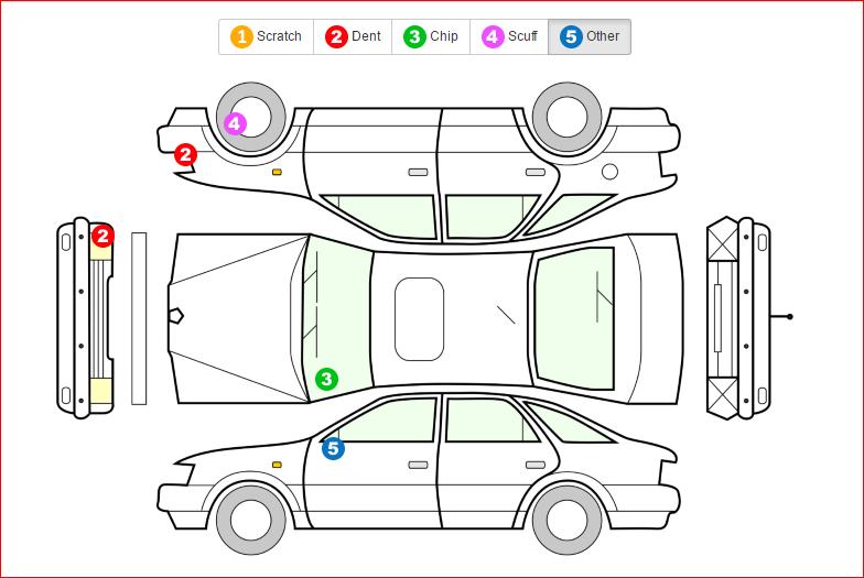 Laz U2019s Travel Tip  Always Inspect Your Rental Car For Damages