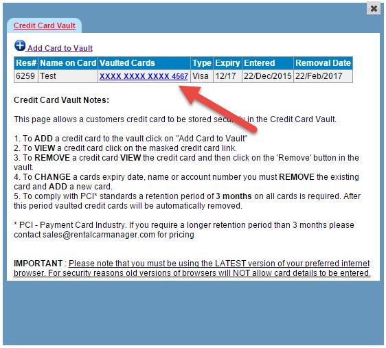 credit card token expiry list rental car manager knowledge base. Black Bedroom Furniture Sets. Home Design Ideas