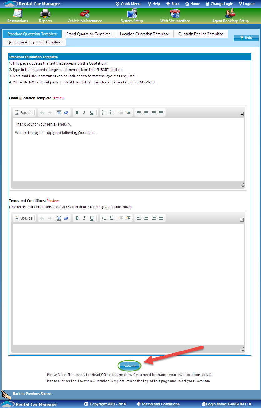 microsoft kb article template - 1 standard quotation template rental car manager